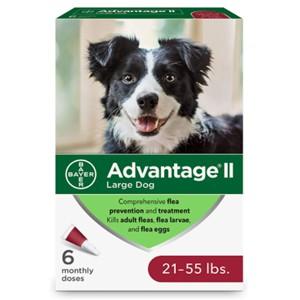 Advantage II Flea Lice Treatment 21-55 Lbs.