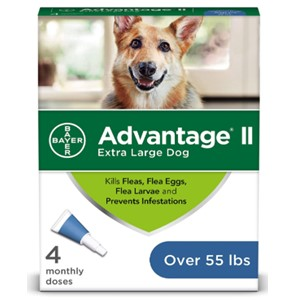 Advanate II Ear Mite Treatment Over 55 Lbs.