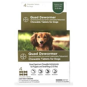 Bayer Quad Dewormer 2-25 Lbs.