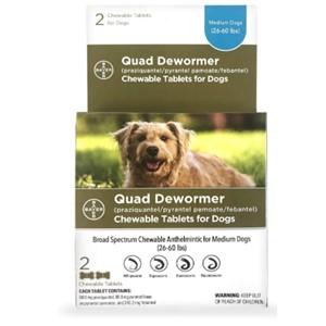 Bayer Quad Dewormer 26-60 Lbs.