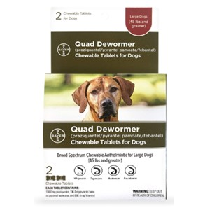 Bayer Quad Dewormer Over 45 Lbs.