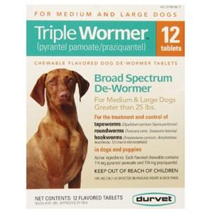 Durvet Triple Dewormer Medium-Large Dogs