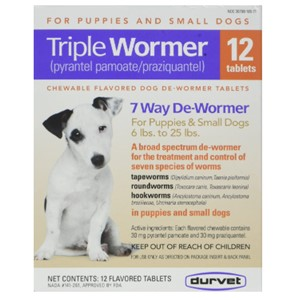 Durvet Triple Dewormer Puppies Small Dogs
