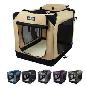 EliteField 3-Door Folding Dog Crate