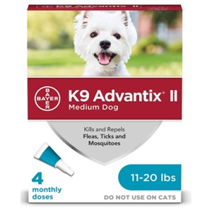 K9 Advantix II Flea Tick Treatment 11-20 Lbs.