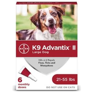 K9 Advantix II Flea Tick Treatment 21-55 Lbs.