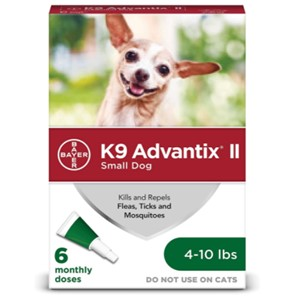 K9 Advantix II Flea Tick Treatment 4-10 Lbs.